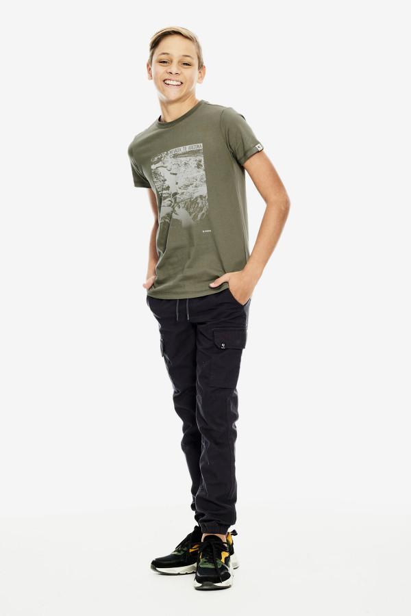 T-shirt en coton avec impression devant Garcia