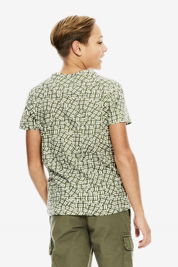 T-shirt courtes manches imprimé en coton Garcia