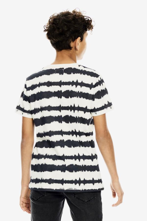 T-shirt imprimé en coton manches courtes Garcia
