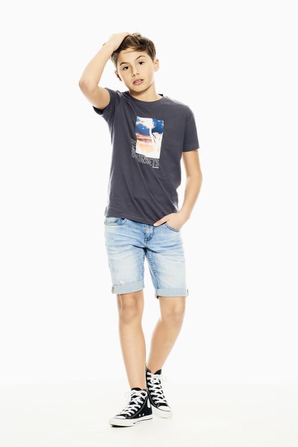 T-shirt avec impression devant en coton Garcia