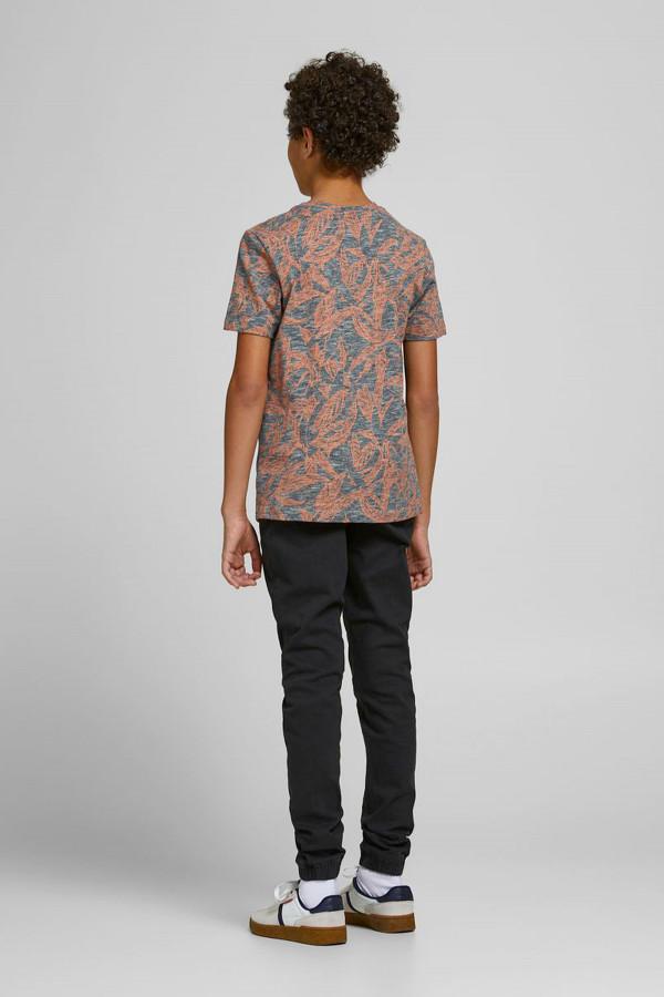 T-shirt imprimé fines rayures et feuillage en coton Jack & Jones