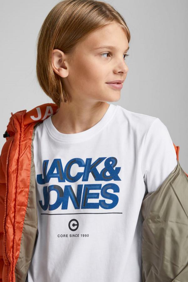 T-shirt basique avec inscription devant Jack & Jones