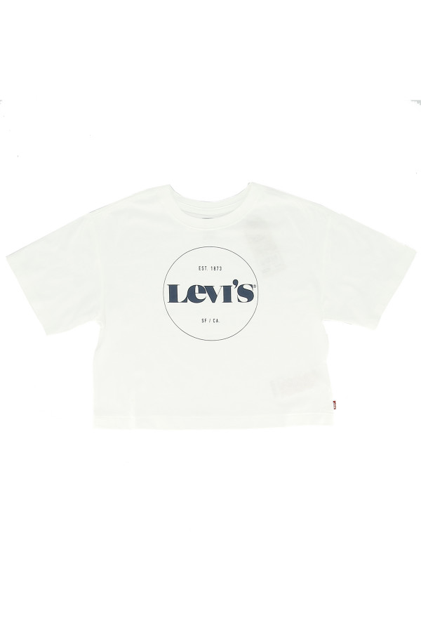 T-shirt uni avec impression sur le devant en coton Levi's