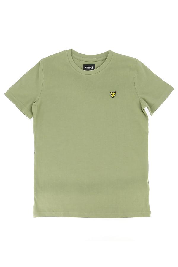 T-shirt uni basique en coton avec logo à la poitrine Lyle & Scott