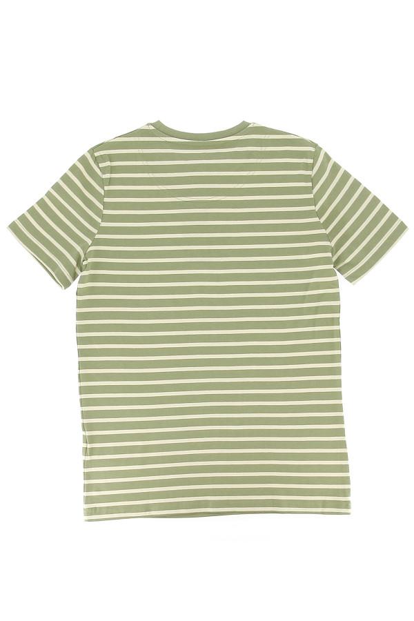T-shirt rayé bicolore avec logo brodé à la poitrine Lyle & Scott