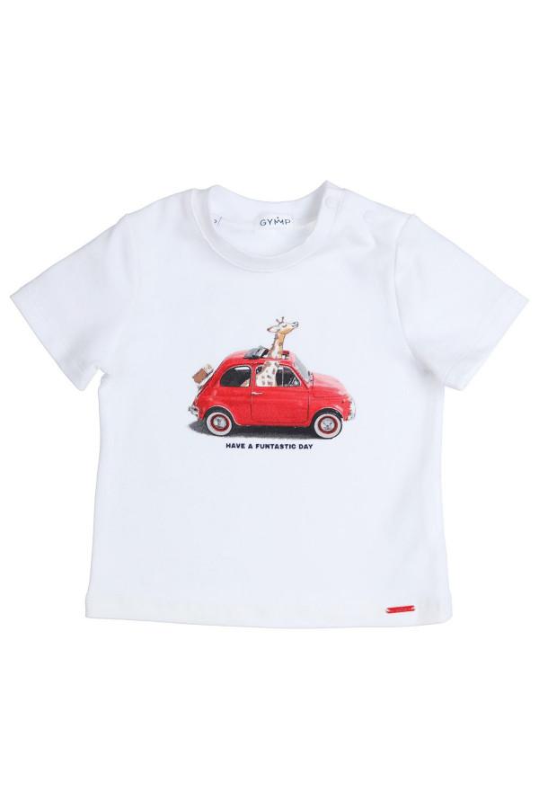 T-shirt imprimé à l'avant en coton Gymp
