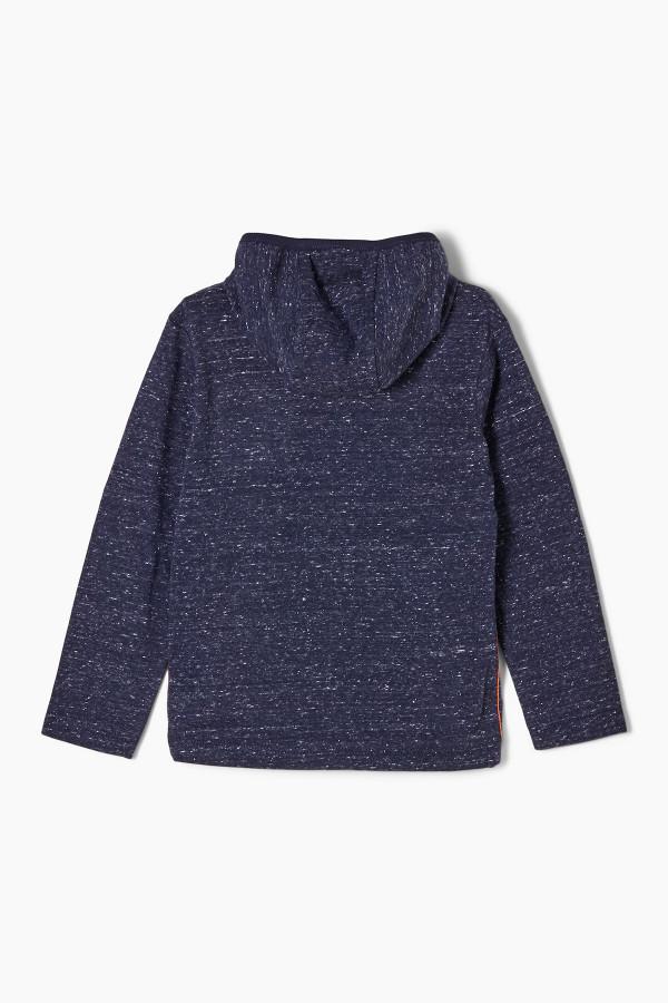 T-shirt chiné à capuche avec poche devant S.Oliver