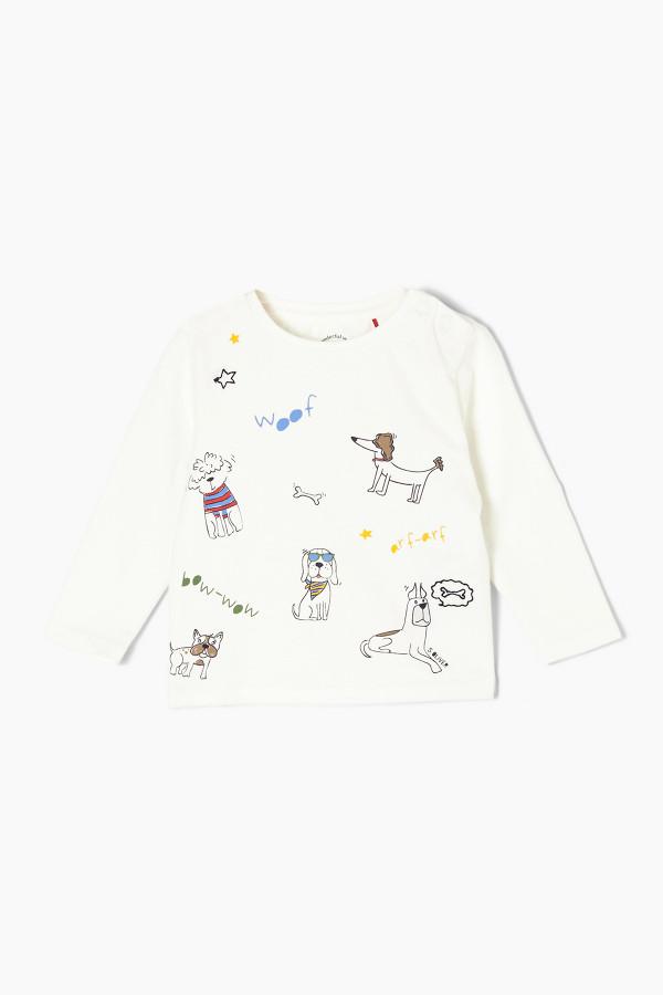 T-shirt imprimé en coton manches longues S.Oliver
