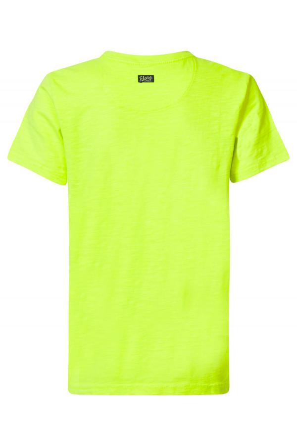 T-shirt uni avec impression devant en coton Petrol