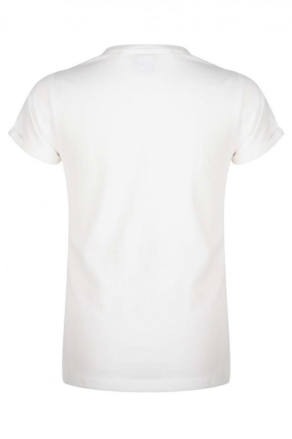T-shirt en coton stretch imprimé en relief devant Indian Blue Jeans