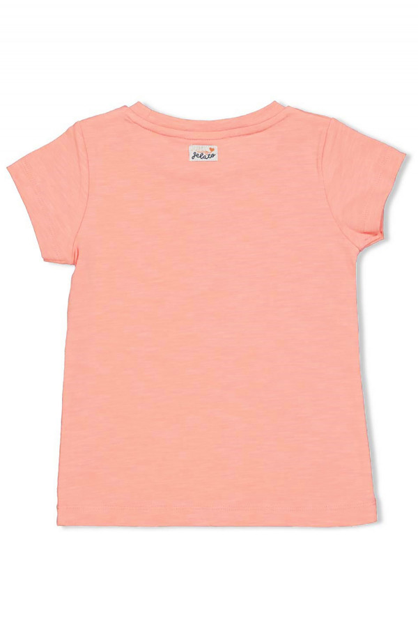T-shirt chiné imprimé en relief devant Jubel