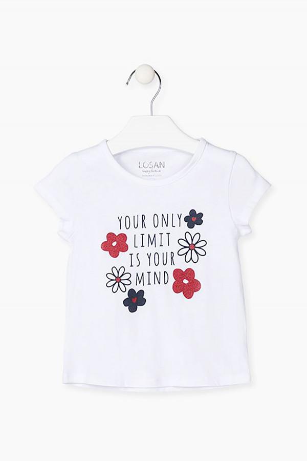 T-shirt en coton avec impression devant Losan