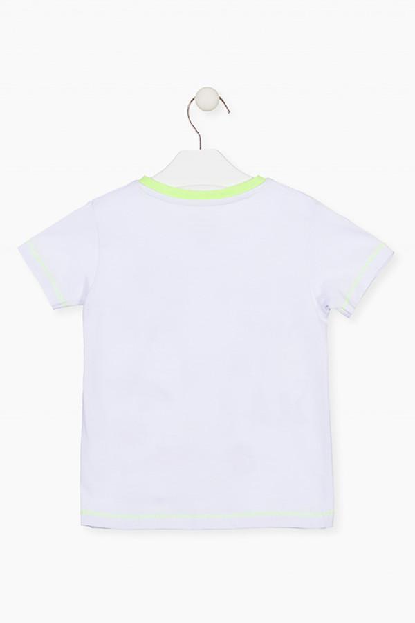 T-shirt uni avec impression devant et poche poitrine Losan