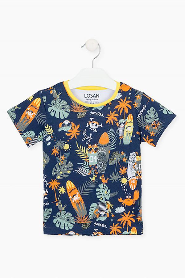 T-shirt imprimé en coton Losan