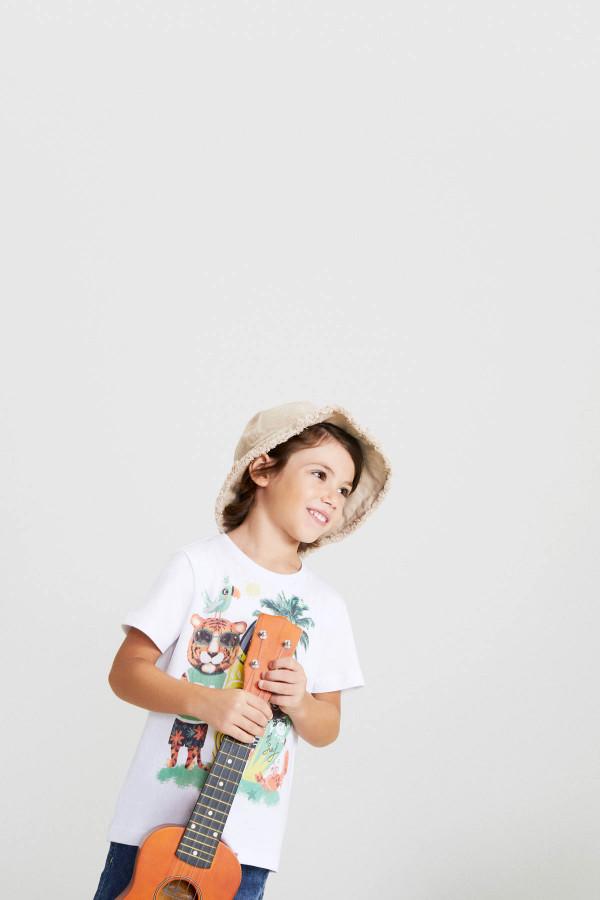 T-shirt imprimé à l'avant en coton Losan