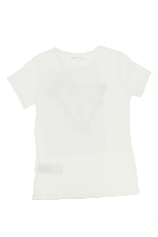 T-shirt Regular en coton stretch logo imprimé à l'avant Guess