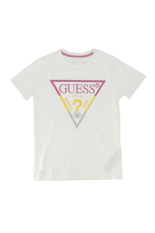 T-shirt avec impression sur le devant en coton stretch Guess