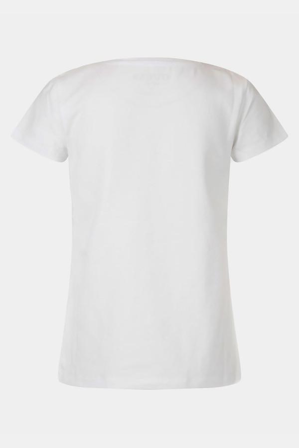 T-shirt uni avec impression devant en coton stretch Guess