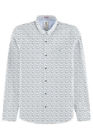 Chemise imprimée graphique en coton broderie poitrine Garcia