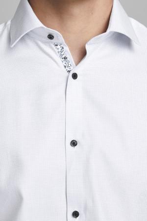 Chemise Premium slim fit unie avec contraste fleuri Jack & Jones