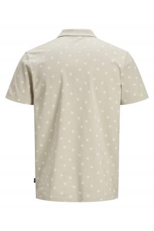 Polo imprimé en coton piqué avec boutons au col TRISTAN Jack & Jones