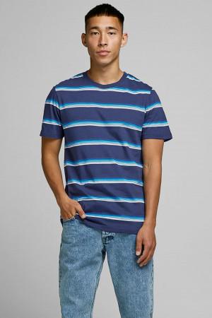 T-shirt imprimé rayé manches courtes en coton STAN Jack & Jones