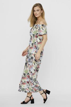 Robe longue fleurie avec épaules dénudées PHEOBIE Vero Moda