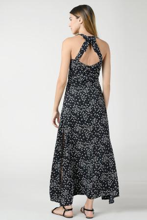 Robe longue fleurie dos nu avec nœud Molly Bracken