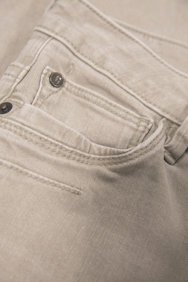 Jean uni slim taille haute modèle 5 poches Garcia