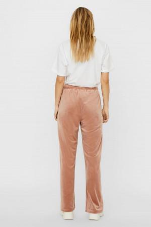 Pantalon décontracté uni en velours taille élastique ATHENA Vero Moda