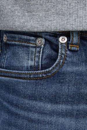 Jean skinny noir avec franges aux chevilles Blush Only