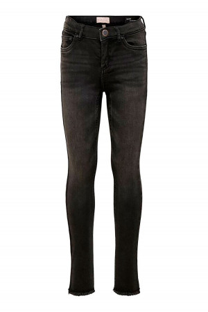 Jean Skinny 7/8 avec franges Blush Mid Ankle Raw Only