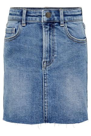 Jupe courte en jean délavée en coton stretch WONDER Only kids