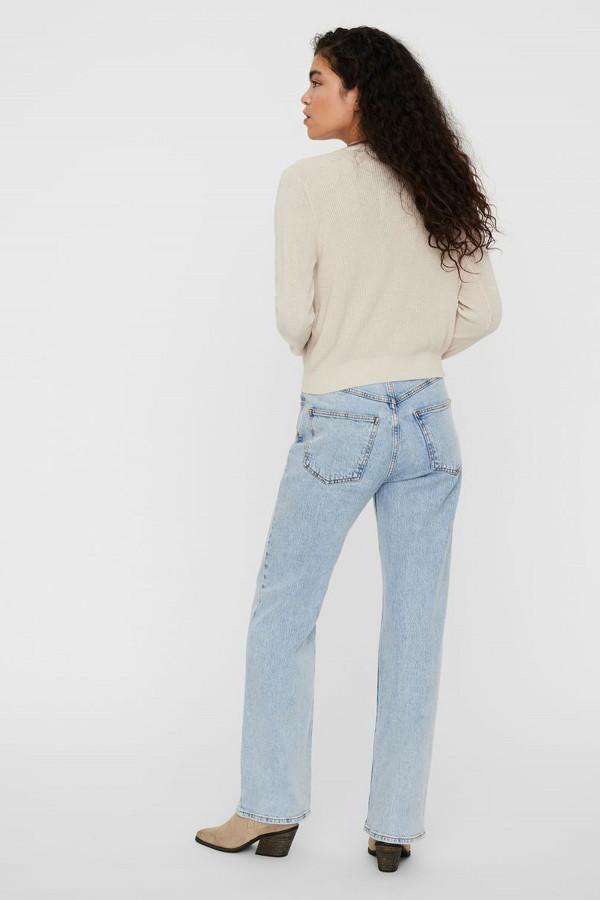 Cardigan uni boutonné en maille perlée NEW LEXSUN Vero Moda