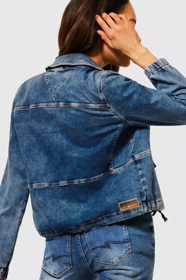Veste en jean délavée fermeture boutons avec poches Street One