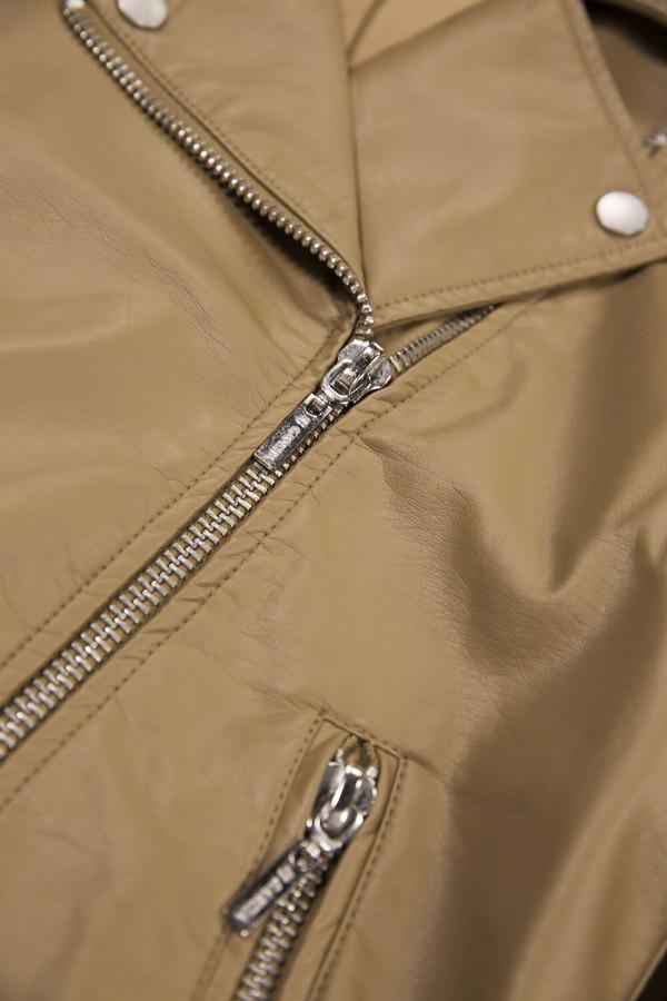 Veste perfecto unie en similicuir poches avec fermeture éclair Garcia