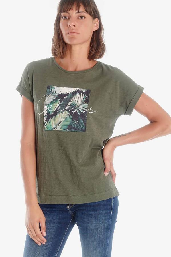 T-shirt en coton flammé avec impression devant Le Temps des Cerises