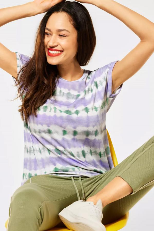 T-shirt imprimé tie & dye manches courtes Street One