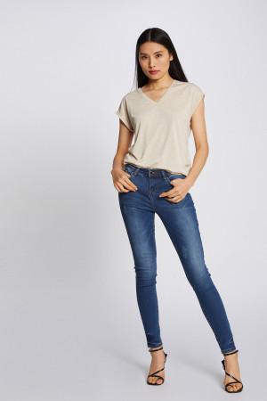 T-shirt loose chiné avec lurex ajourés aux épaule DMAYOL Morgan