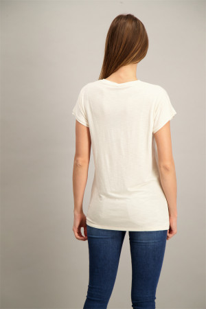 T-shirt uni basique col V Soyaconcept