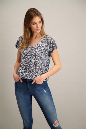 T-shirt loose flammé imprimé léopard ARETHA Soyaconcept