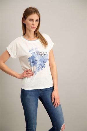 T-shirt uni avec impression sur le devant Soyaconcept