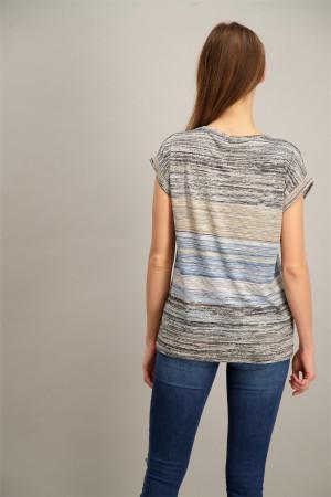T-shirt manches courtes imprimé fines rayures Soyaconcept