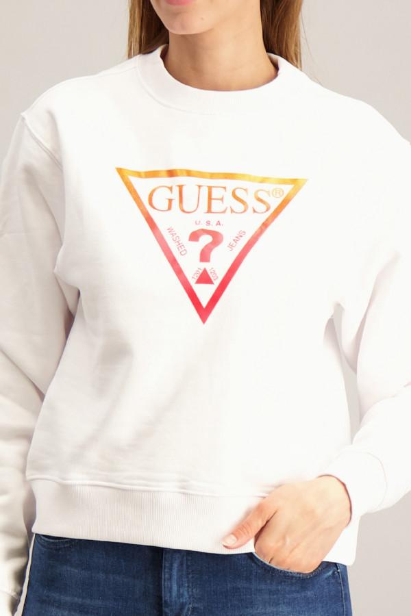Sweat en coton avec logo devant Guess