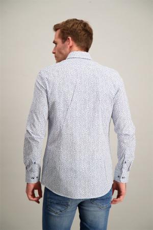 T-shirt bi-matière imprimé rayé et lurex Signe Nature