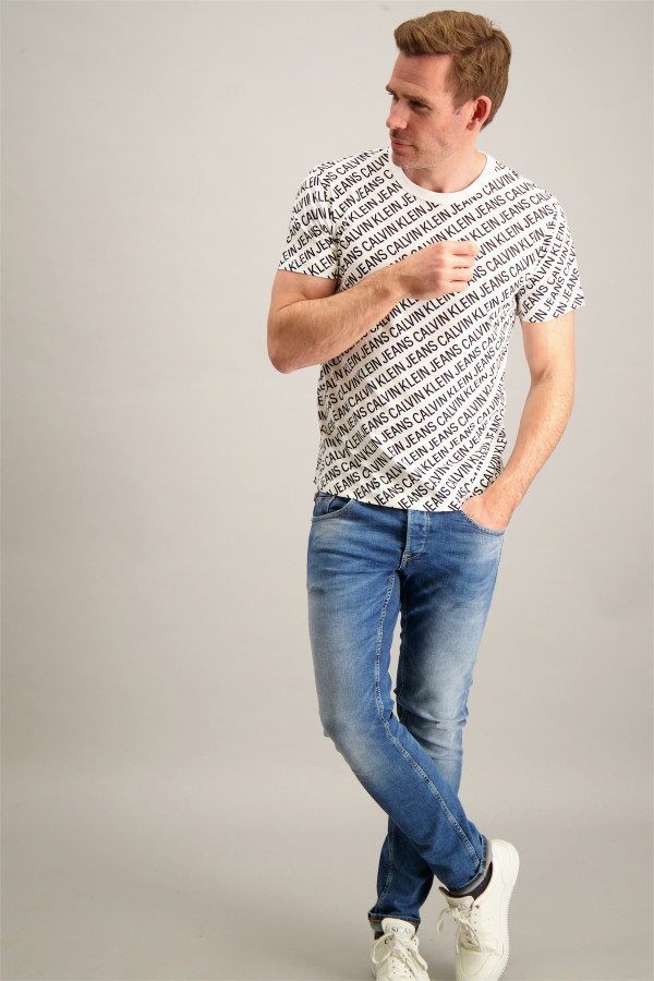 T-shirt imprimé logo en coton manches courtes Calvin Klein