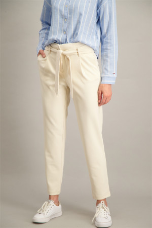 Pantalon uni paper-bag avec ceinture CAROLINA Only