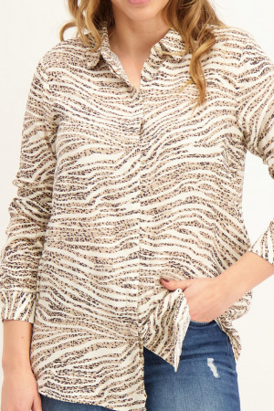 Robe chemise courte imprimée animal NIKOLA Soyaconcept