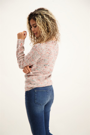 Pull chiné en maille manches longues NIKKI Soyaconcept