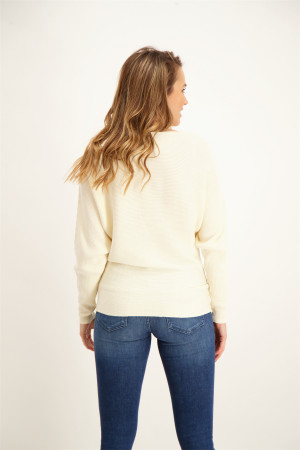 Pull uni en maille manches longues NIAKA Soyaconcept